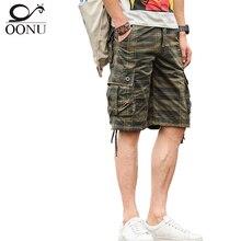 Oonu Летняя мужская армия камуфляж Работа Повседневная Бермуды карго мужские шорты модные Джоггеры в целом военные брюки короткие JD04