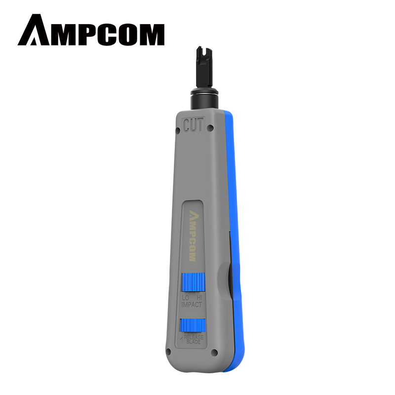 Punch Down Tool, AMPCOM 110 Type Multi-function Network Cable Tool With Two Blades Telephone Impact Terminal Insertion Tools