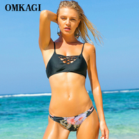 OMKAGI Brand Brazilian Bikini 2017 Swimwear Women Swimsuit Sexy Push Up Bikini Set Swimming Bathing Suit