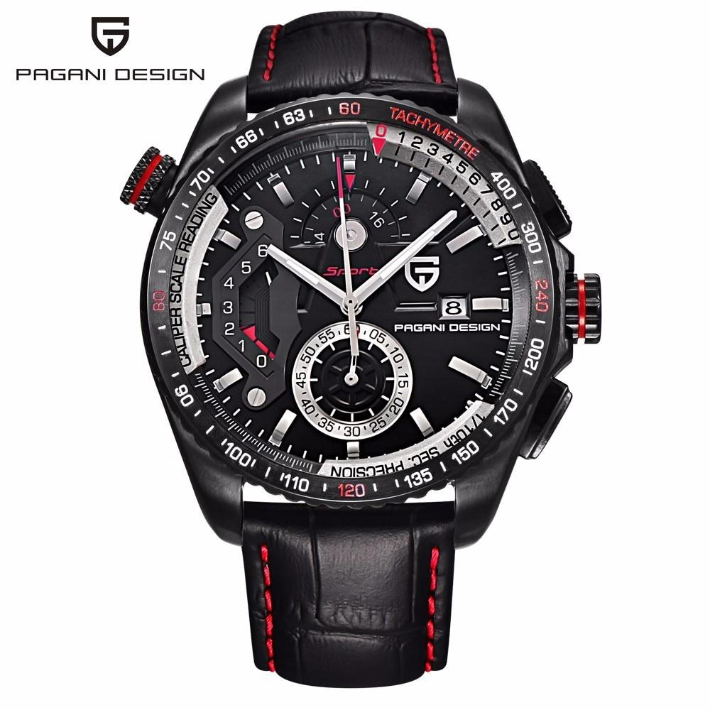 PAGANI DESIGN Brand Chronograph Sport Watches Japan Movement Stainless Steel Case Waterproof Quartz Watch Relogio Masculino