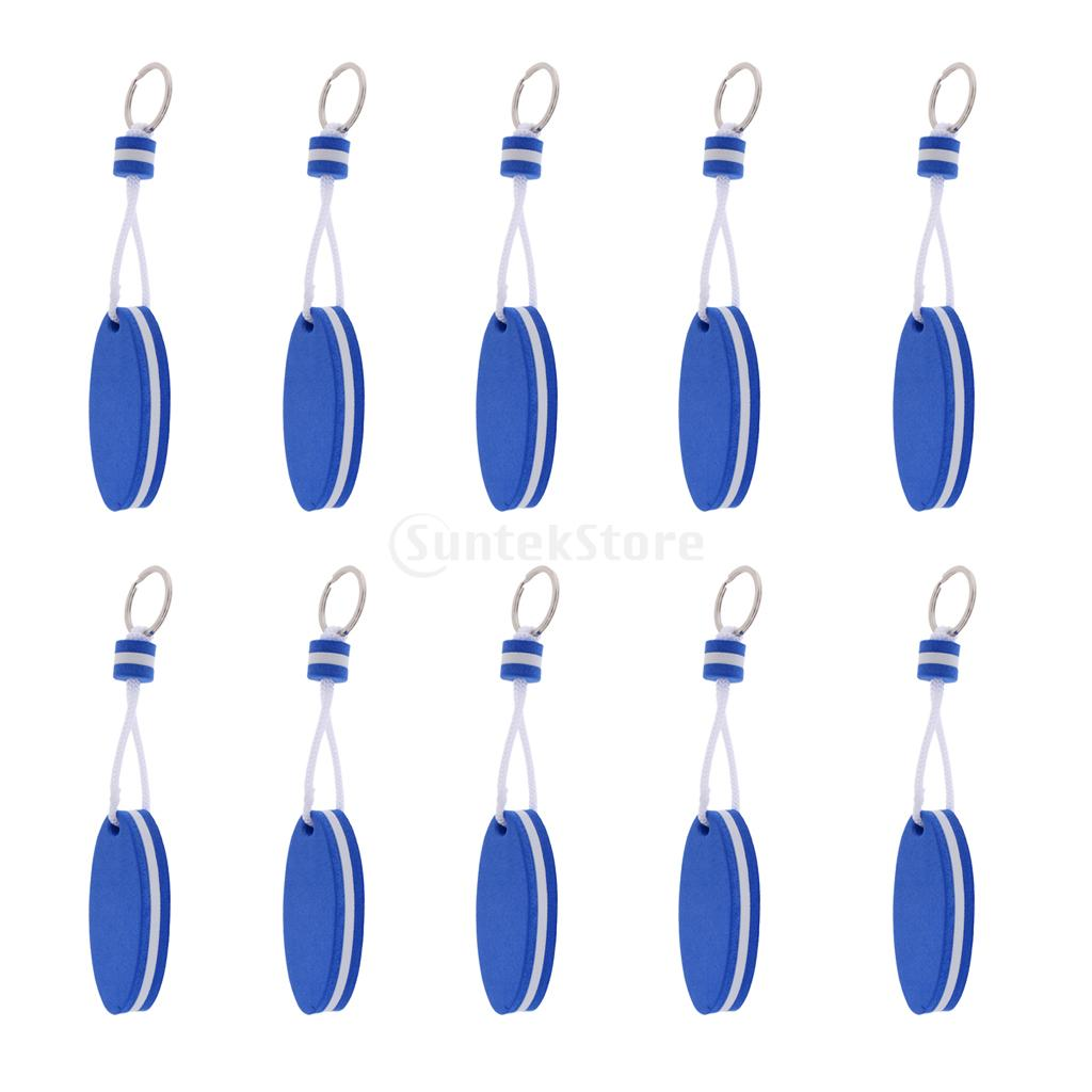 10 Pieces Yachting Boating Sailing Drifting Rafting Floating Key Chain Key Ring- Surfboard Shape Blue ...