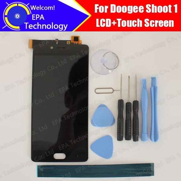 Doogee atirar 1 display lcd + tela de toque 100% original novo testado digitador substituição do painel vidro para atirar 1 presentes