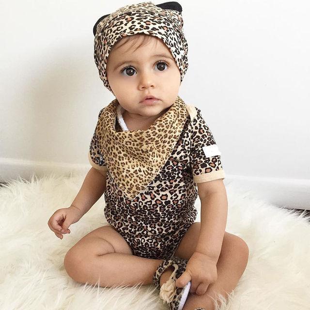 50cbb5b845e63 3 pièces ensemble nouveau-né bébé vêtements bébé garçon fille vêtements  léopard bébé body
