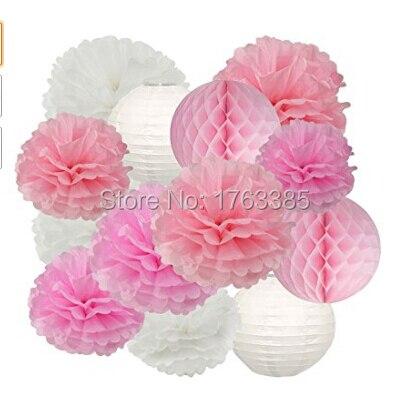16pcs white pink pom pom flower tissue paper pompom balls paper 16pcs white pink pom pom flower tissue paper pompom balls paper flower hanging pom wedding party mightylinksfo