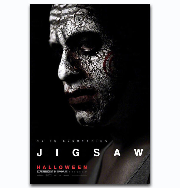 f476 hot new jigsaw halloween 2017 horror movie film silk light canvas painting art poster wall