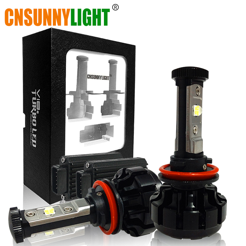 CNSUNNYLIGHT 10000LM Super Bright Car LED Headlight Kit H7 H11/H8/H9 9005/HB3 9006/HB4 9012 Replace Bulb w/ Anti-Dazzle Beam
