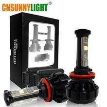 CNSUNNYLIGHT 10000LM Super Helle Auto LED Scheinwerfer Kit H7 H11/H8/H9 9005/HB3 9006/HB4 9012 Leuchtmittel ersetzen w/Anti-Blenden Strahl