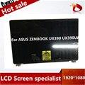 12 5 дюймов полная сборка для ASUS ZENBOOK 3 UX390 UX390UA UX390UAK ноутбук полный ЖК-дисплей панель с рамкой верхняя половина