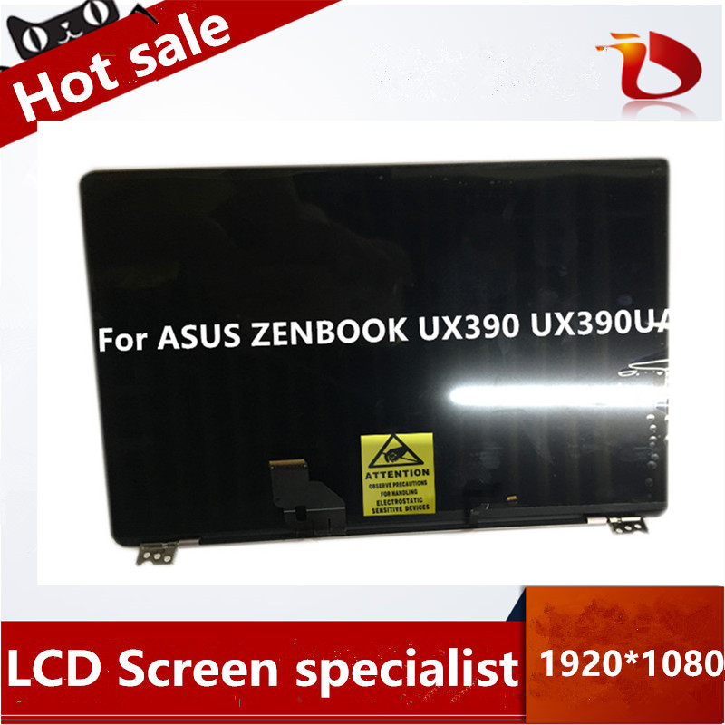 Free Shipping Full Assembly For ASUS ZENBOOK UX390 UX390UA UX390UAK Laptop LED LCD FHD Screen Digitizer Glass Replacement