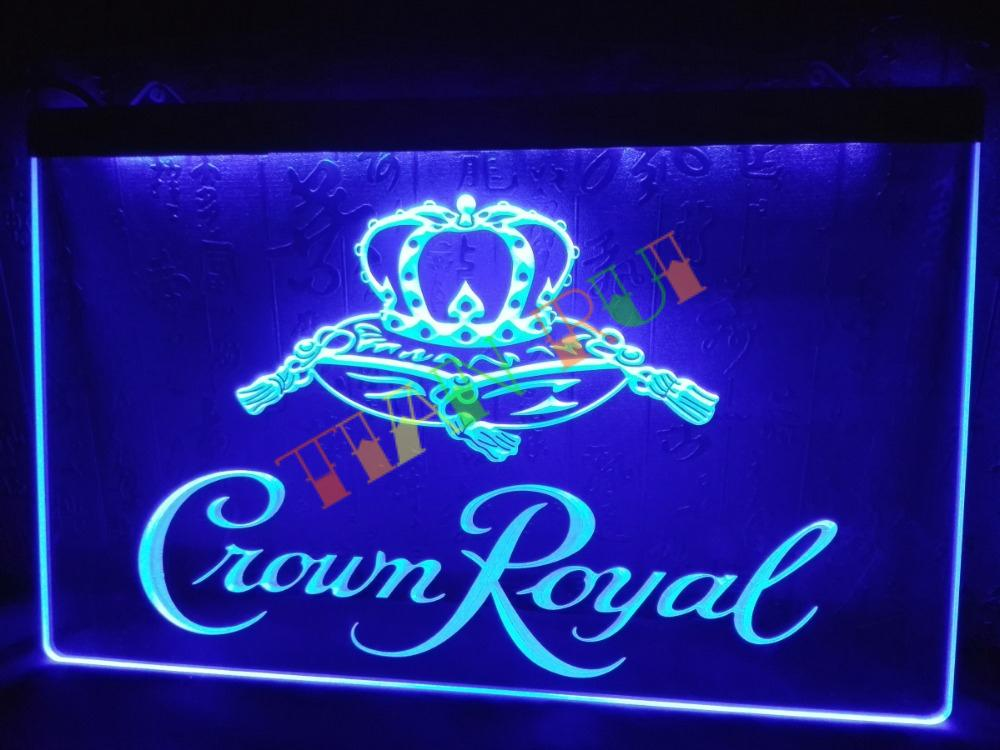 LE104 Crown Royal Derby Whiskey NR beer Bar Light Sign