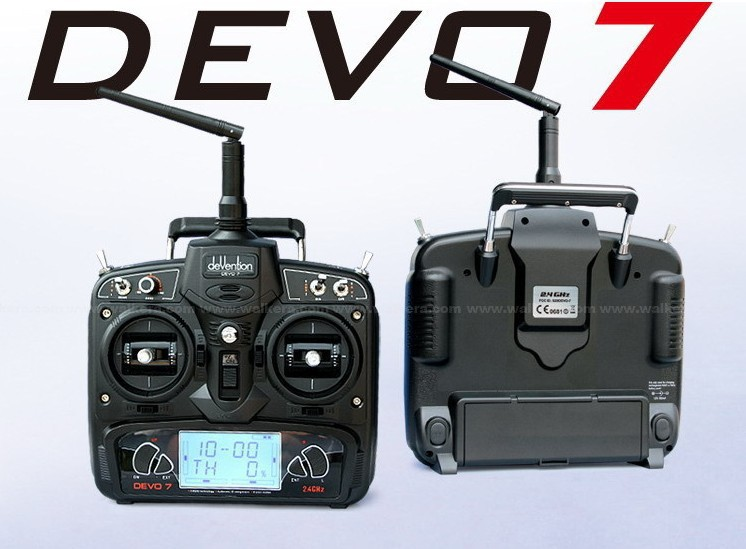 Walkera DEVO7 Walkera RC drone Remote Control Devo 7 DEVO7 transmitter 7 Channel DSSS 2.4G Transmiter + RX701 Receiver F09923 original walkera devo f12e fpv 12ch rc transimitter 5 8g 32ch telemetry with lcd screen for walkera tali h500 muticopter drone