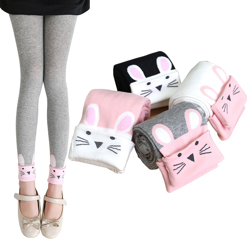 New Cartoon Cats Leggings For Girls Kids Spring Autumnm Cotton Leggins Children Skinny Clothing Trouser Pants Cute Leginsy Getry