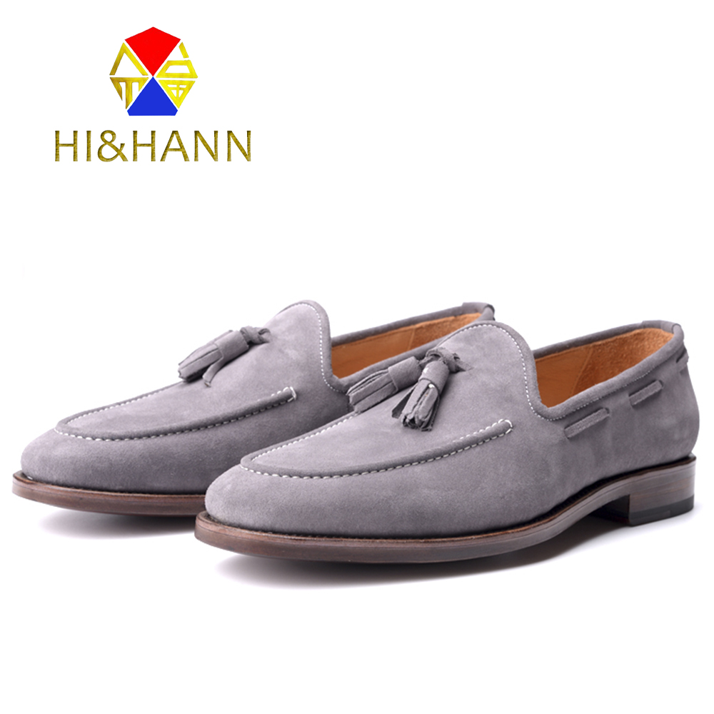 Goodyear Handmade Suede Genuine Leather Men Loafers Men Wedding and Party shoes Men Flats Size US 6-13 Free shipping choudory dragon embroidery handmade men leather shoes men loafers wedding and party shoes metal tip men flats size 38 46 us12