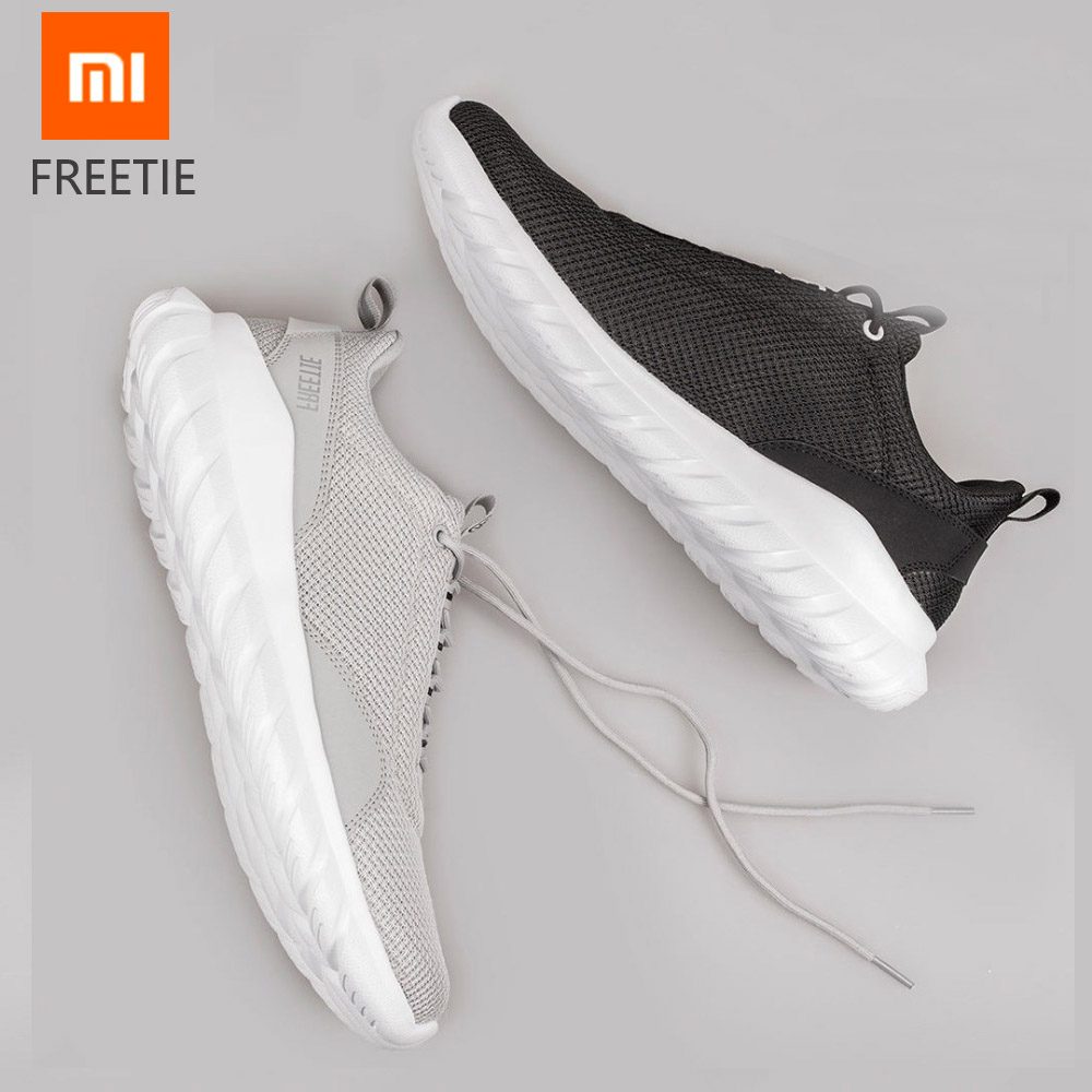 Original Xiaomi FREETIE Sport Shoes Breathable Lightweight Ventilate Elastic Knitting Shoes Refreshing City Running Sneaker Shoe