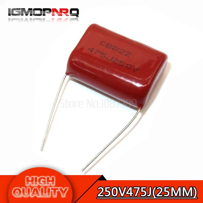 CBB22 630V 104J 0.1uF 5/% Electronic Component Polypropylene Film Capacitor 80pcs