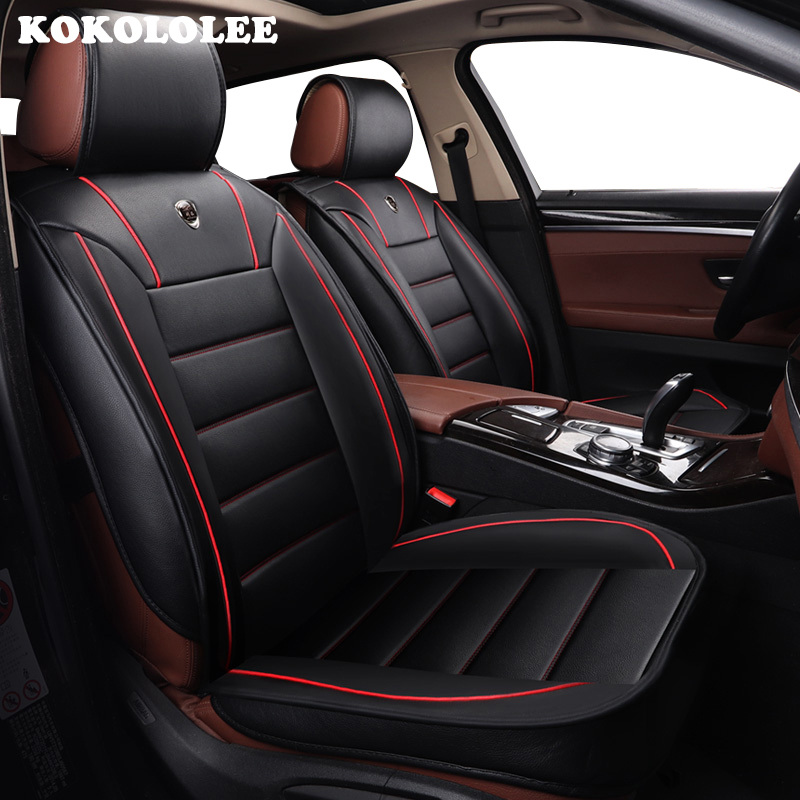 kokololee Front Rear pu Leather font b car b font seat covers set For Ford mondeo