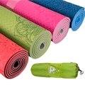 Dature TPE Tapis De Yoga 6mm Tapis de Fitness Remise En Forme De Yoga Tapis De Sport Tapis De Gymnastique Avec Sac De Yoga Balance Pad Yogamat 183*61 cm * 6mm