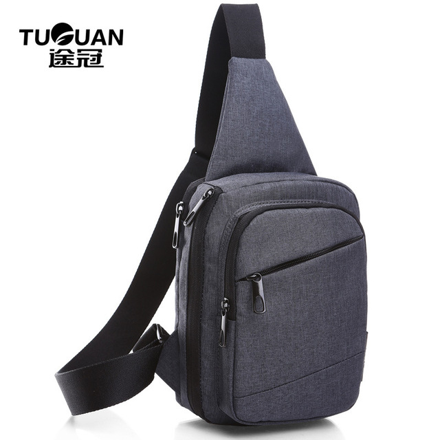 TUGUAN Men Women Pest Bag Loves' Crossbody Bag Leisure Waterproof Chest Waist Pack Shoulder Fanny Bags Pouch Small Messenger Bag