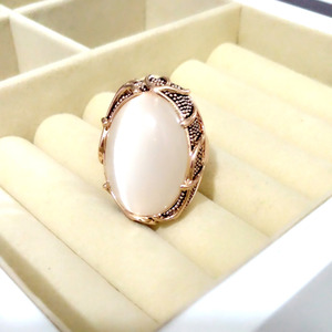 Luxury Big Opal Ring New Arrival Style for Women Girl Constant Love Rings Fashion Anniversary Jewelry Gift(China)