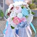 2017 Красивые Красочные Свадебные Невесты свадебный букет искусственный цветок розы свадебные букеты
