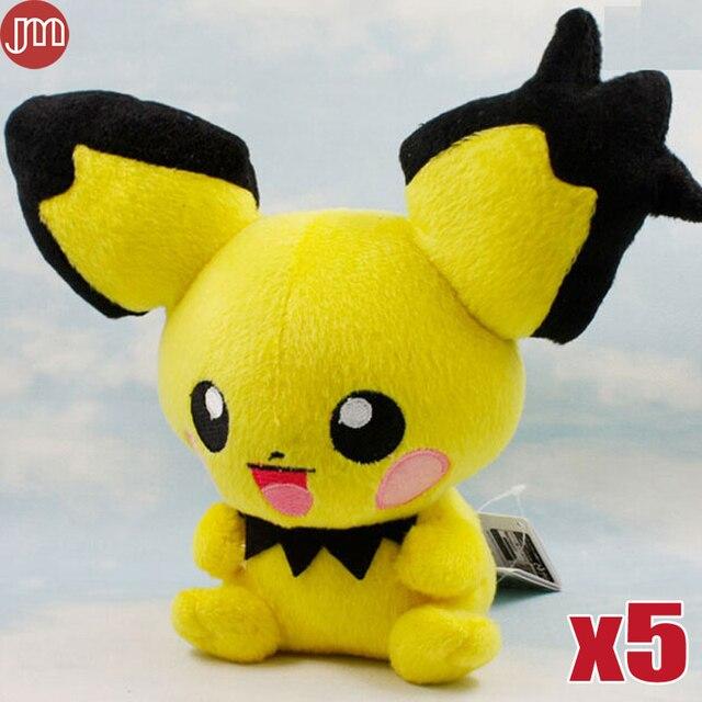 47a3822a4776aa Nieuwe 5 stks Pikachu Knuffel Pichu Spiky oren Zachte Knuffel Doll Teddy 19  cm Anime Baby