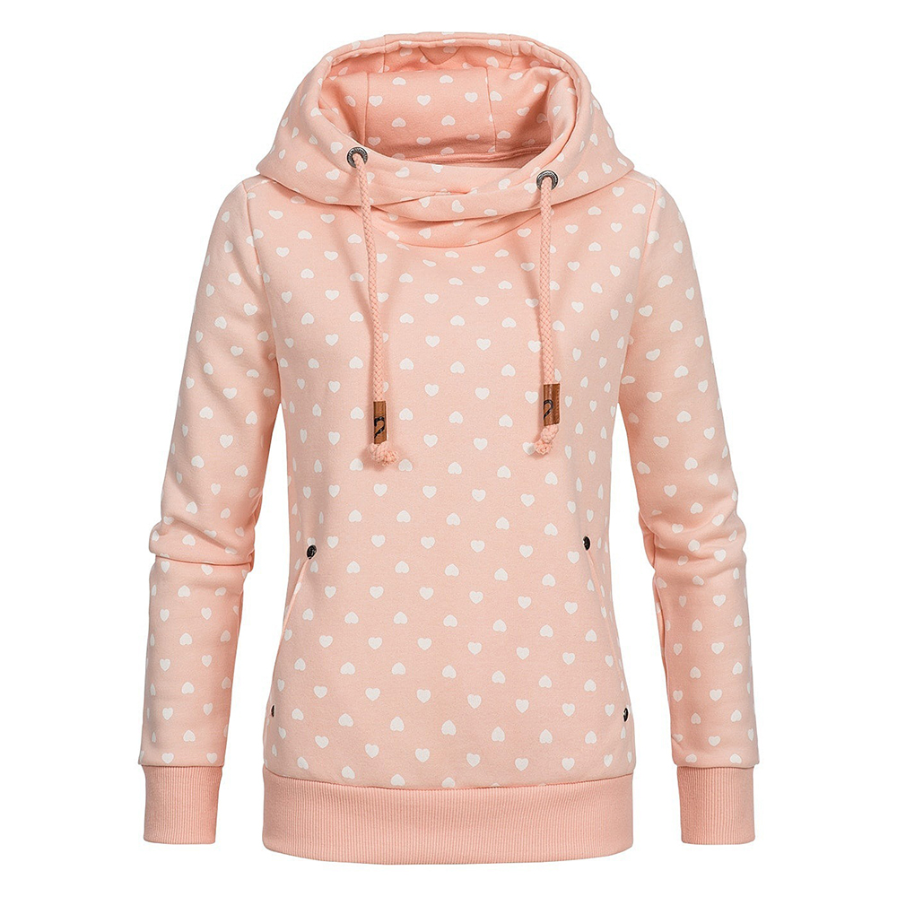 Winter Warm Slim Sweatshirt Women Long Sleeve Heart Hoody Harajuku Ladies hoodies Cute Streetwear Oversized Women Pullovers in Hoodies amp Sweatshirts from Women 39 s Clothing