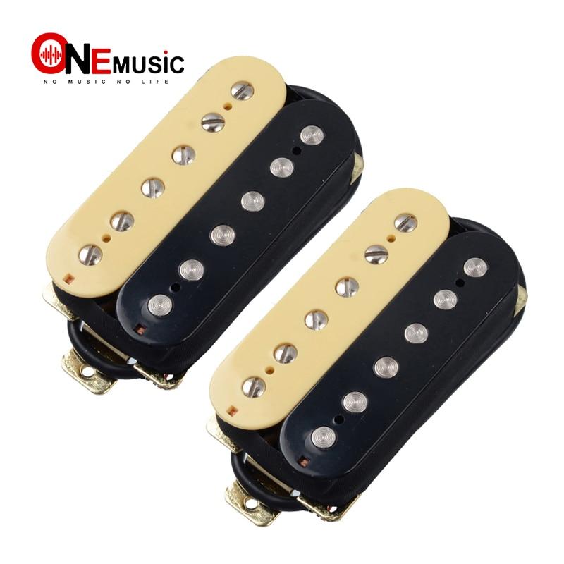 Dula Coil Open Style Humbucker Electric Guitar Pickup Bridge Pickup Ivory/Black pickup bridge neck pickuphumbucker pickup - AliExpress