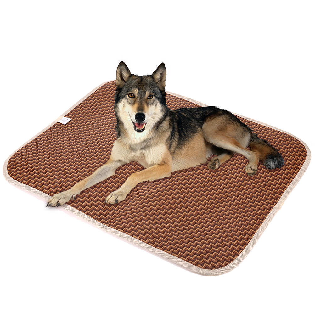 summer pet cooling mat dog cat rattan mattress pet dog cat square cushion bed cooling puppy