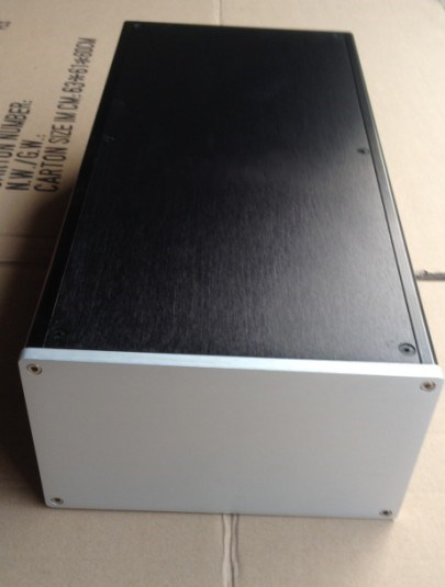 E-002 QUEENWAY All aluminum power amplifier front chassis DAC power box Case 200mm*410mm*120mm 200*410*120mm