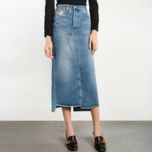 Spring Autumn Jeans Skirt Denim Skirts Long Skirt High Waist Jeans Maxi Skirts Saias Jean Longa Feminina Casual Plus Size S-2XL
