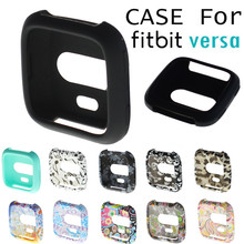 TPU Silicone Cover Case Watch Casing Guard Protector For Fitbit Versa Smart Band smartwatch wearable devices relogio inteligente