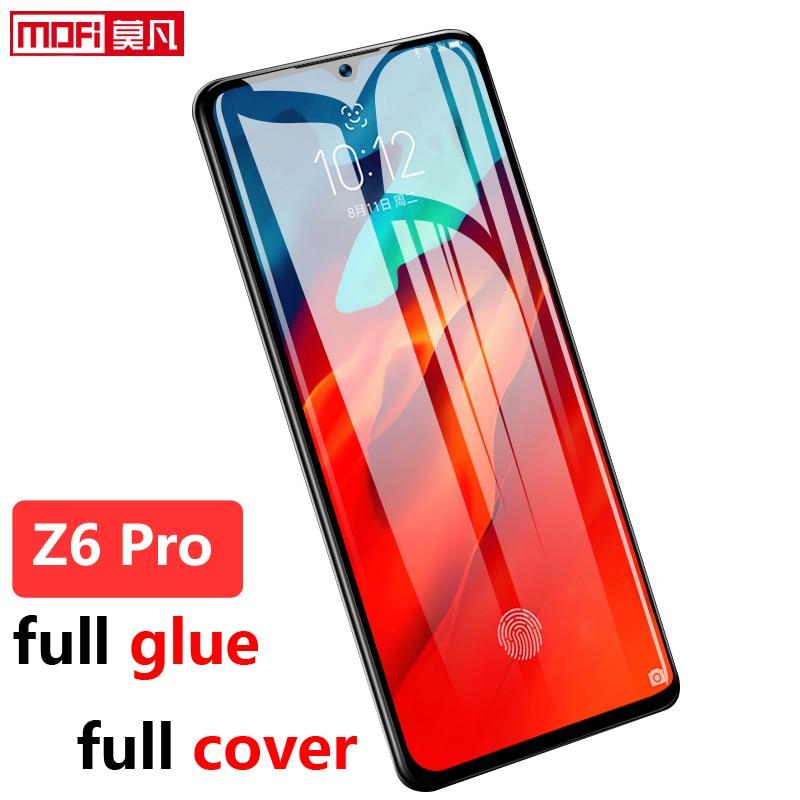 Lenovo z6pro vidro temperado protetor de tela filme 9 h 2.5d cola completa capa mofi original premium lenovo z6pro vidro temperado