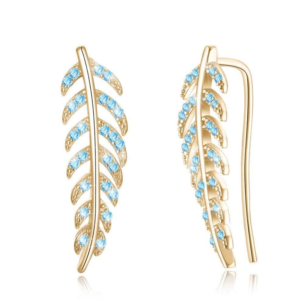 New Hot S925 Sterling Silver Jewelry Leaves Simple Sterling Silver Stud Earrings Women Retro 925 Sterling Silver Ear Studs