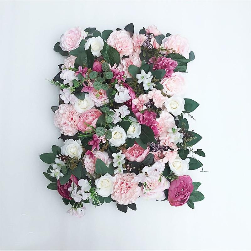 JAROWN Artificial Flower Row Simulation Rose Peony Hydrangea Background Wall Fake Flowers Wedding Feast Arrangement Props Flores (7)