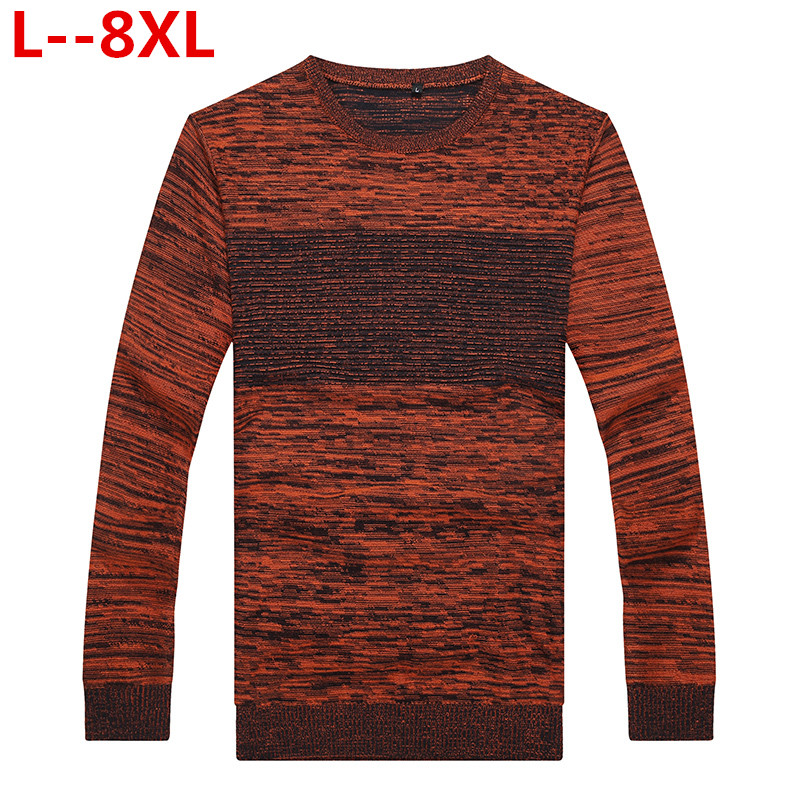 8XL 6XL 5XL 4XL Pull Hommes 2018 nouveauté pullover décontracté Hommes Automne Col Rond Patchwork Tricoté De Qualité Marque Hommes Chandails