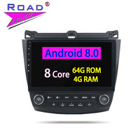 Roadlover Android 8,0 Авторадио автомобиля 2 Din радио плеер для Honda Accord 7 2003 2004 2005 2006 2007 Стерео gps навигации нет DVD