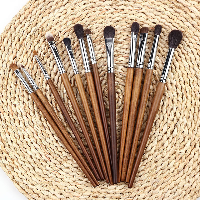 BBL 1 Piece Rosewood Professional Eye Makeup Brush Precision Blender Highlighter Eyeshadow Smudger Brush Angled Eyebrow Brushes 5