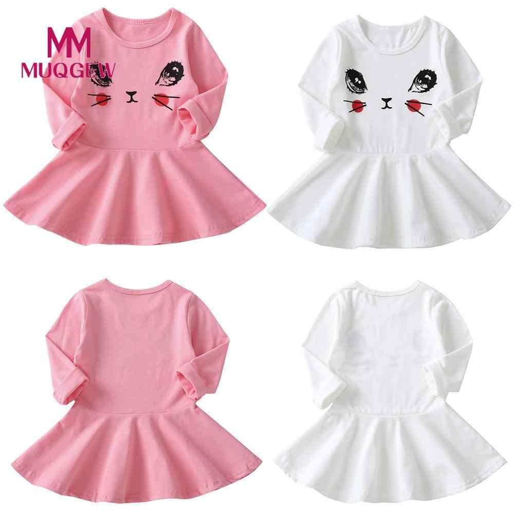 37409c0c4f53 MUQGEW Summer Girls Dress Infant Kids Eyes Printing Sundress Long Sleeve Clothes  Kid Girls Casual Dresses
