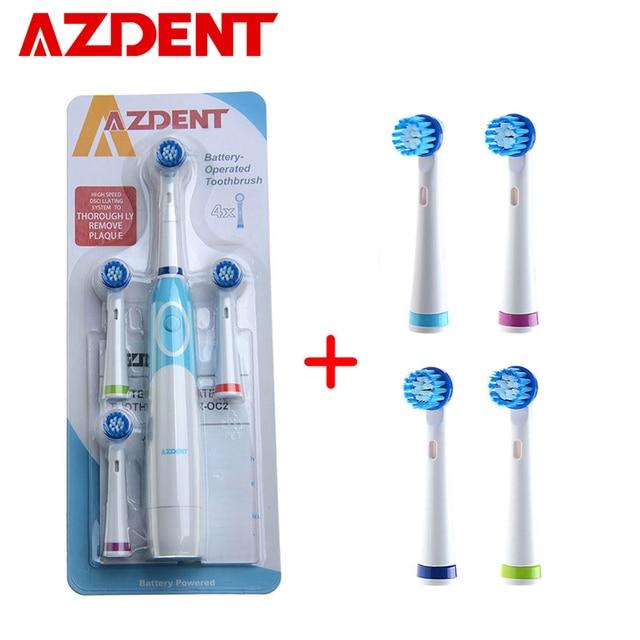 Cepillo de dientes eléctrico rotatorio caliente AZDENT con cabezales de  repuesto limpieza profunda cepillo de dientes 43b89f477d45
