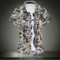 Летние мужские футболка с коротким рукавом Папа установлен Мерсеризованный хлопковая рубашка плюс жира, чтобы увеличить Размеры Мужская п...