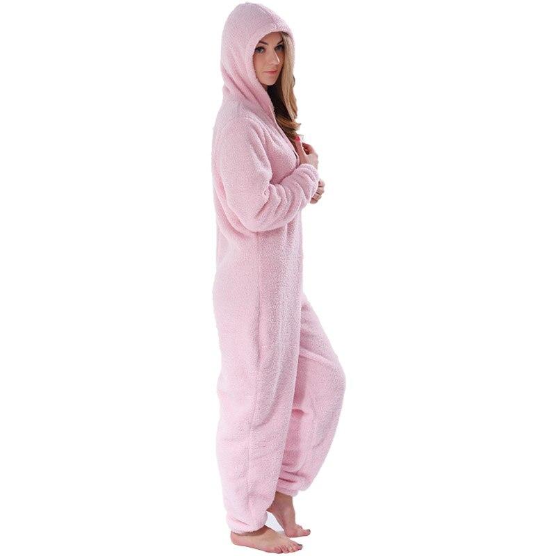 Adults Plus Size Onesie Pink Rose Red Pajama Sets Girls Autumn Winter Fleece Warm Hooded Onesie Sleepwear For Women Teenagers