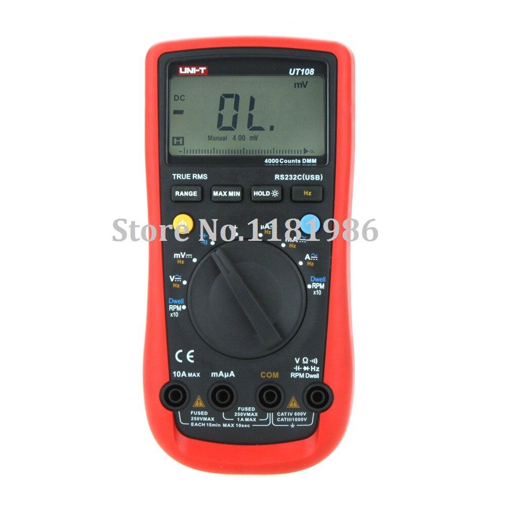 UNI-T UT108 UT-108 Handheld Digital Automotive Multi-Purpose Meters Multimeter Volt Amp Ohm Capacitance Frequency Tester  цены
