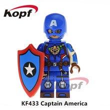 20 Pcs Super Heroes INFINITO GUERRA Capitão América Homem De Ferro KF433 Outrider Bonecas Modelo Blocos de Construção de Brinquedos Educativos para crianças