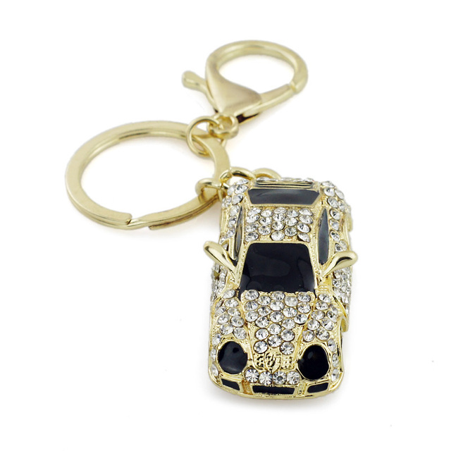 Sports Car Roadster Key Chain Purse Bling