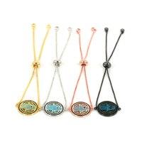 Micro Pave CZ Hamsa Bracelet Charms Link Chain Adjustable Bracelets for Women/Men Jewelry