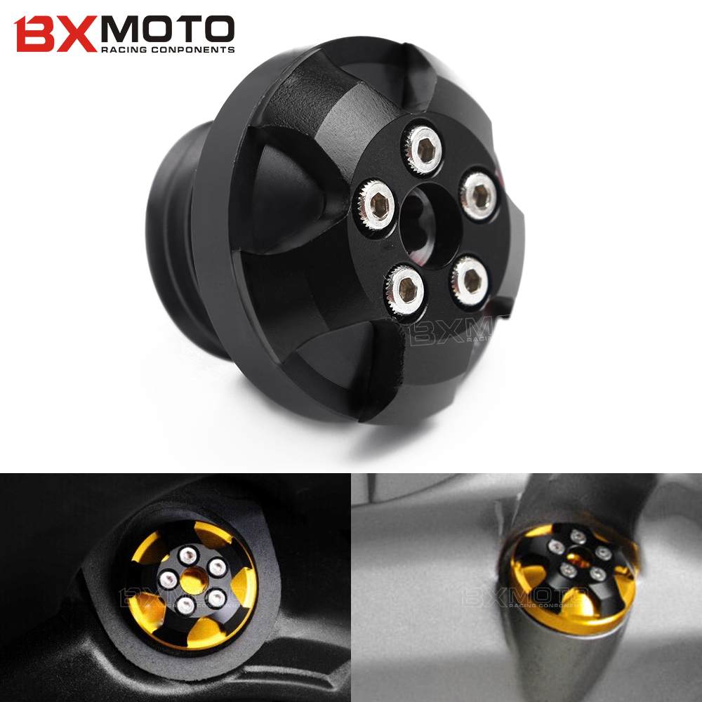 CNC motorcycle m20*2.5 magnetic engine oil filler cap Moto Bike Engine Oil Cap cover For Yamaha kawasaki ducati honda Triumph motorcycle engine cover camshaft plug crankcase cap oil filler cover screw for honda cbr500r cb500f nc700 nc750 2013 2014