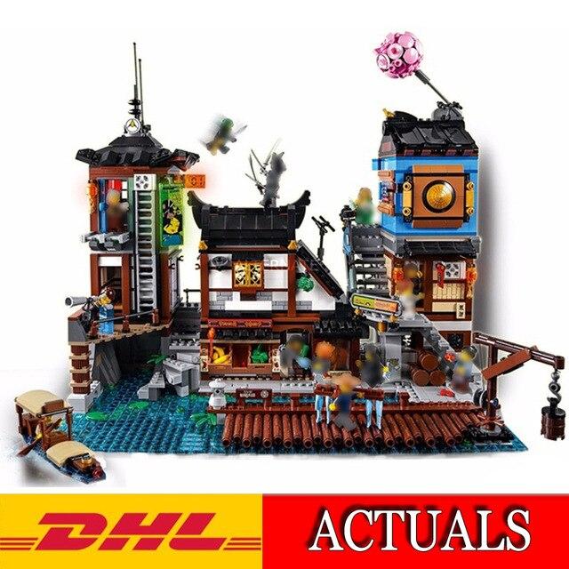 Lepin 06083 3979 pz corredi di costruzione di Modello Compatibile con Lego Ninjagoes Serie 70657 La Città Bacini Set Set 3D di Mattoni figura giocattoli