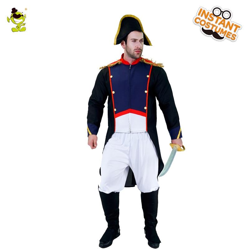 Mens frances emperador Napoleón Disfraz De Halloween