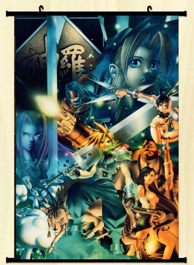 Us 5 98 Anime Poster Home Decoration Japanese Carhot Final Fantasy 7 Poster Ffvii Game Poster Square Enix Game Anime Collage Art 60 90cm In Painting