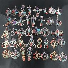 41 стиль Рейки чакра кулон 7 чакра камни натуральный камень кулон полудрагоценные камни колье ожерелье для женщин ювелирные изделия ZZ229